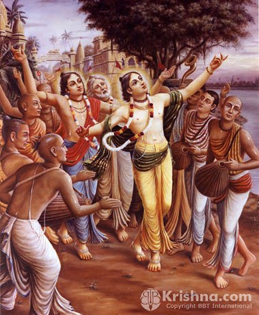 Sankirtan Movement in Progress In Navadwip, West Bengal in 16th Century