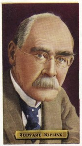 Rudyard Kipling -  Indian-born British writer.