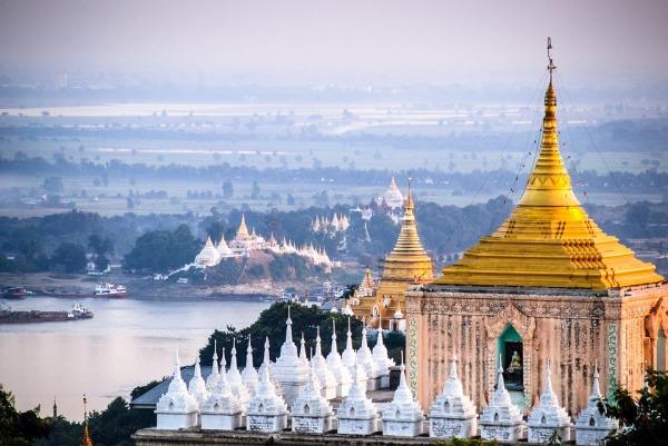 Myanmar Temple Burma Mandalay Pagoda Stupa