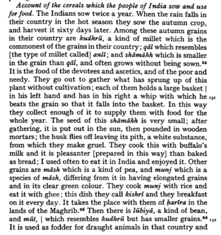 Ibn Batuta on Khichdi